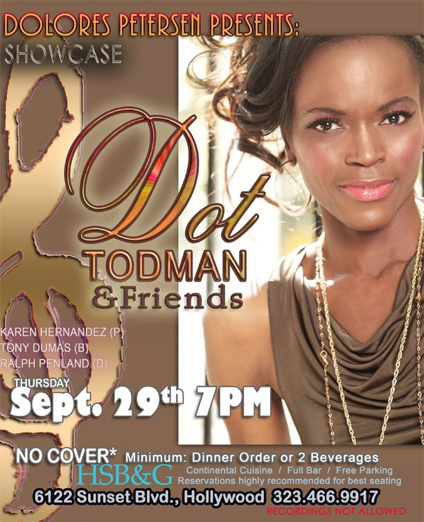 Dot Todman Sings in Hollywood